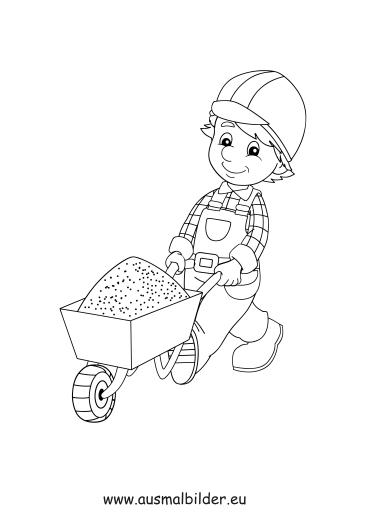 Handwerker ausmalbilder  Ausmalbilder Bauarbeiter - Berufe Malvorlagen