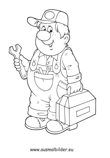 Bauarbeiter ausmalbilder  Ausmalbilder Handwerker - Berufe Malvorlagen