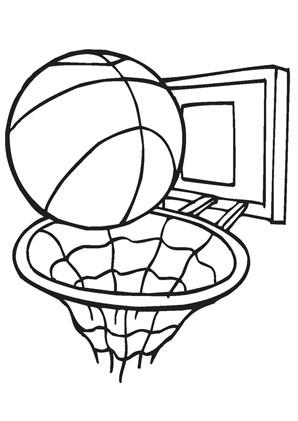 Ausmalbilder Basketball - Basketball Malvorlagen
