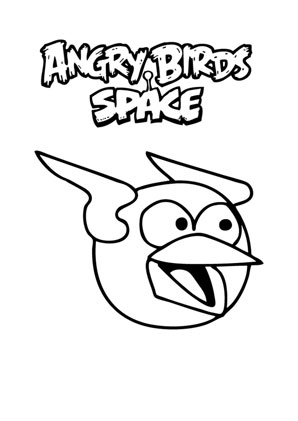 Ausmalbilder Angry Birds Space 7 - Angry Birds Space Malvorlagen
