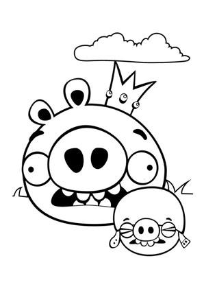 Ausmalbild Angry Birds 17 Kostenlos Ausdrucken