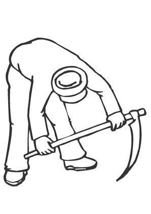 Bauer bei der arbeit als pdf ausdrucken