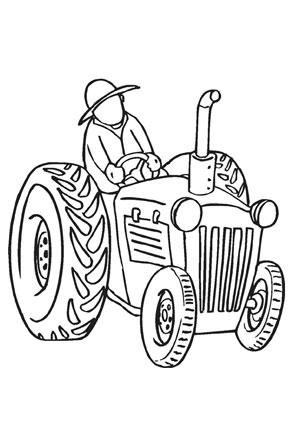 Ausmalbild Bauer Mit Traktor Kostenlos Ausdrucken