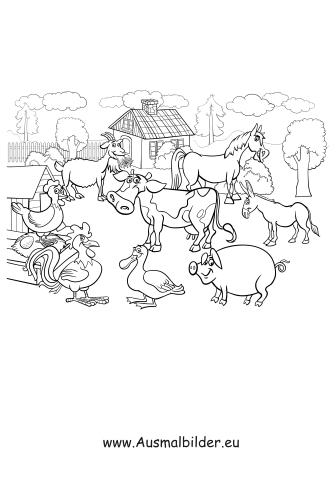 Ausmalbilder Bauernhof Bauernhof Malvorlagen