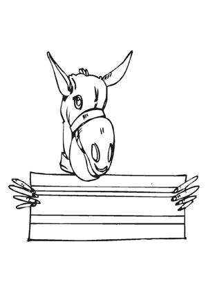 Ausmalbilder Esel auf dem Bauernhof - Bauernhof Malvorlagen