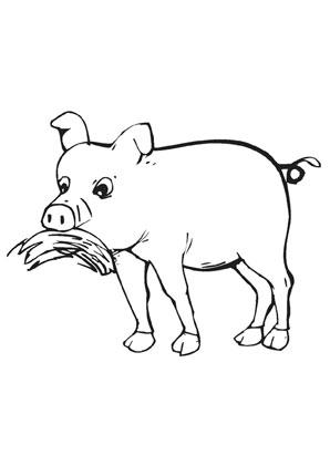 Ausmalbilder Fressendes Schwein - Bauernhof Malvorlagen