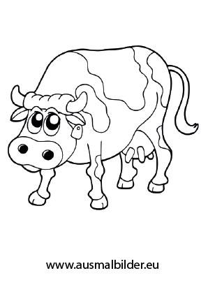 Ausmalbilder Kuh - Bauernhof Malvorlagen