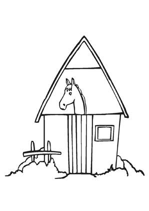 Ausmalbilder Pferdestall Bauernhof Malvorlagen