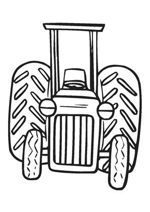 Ausmalbild Traktor Auf Dem Bauernhof Kostenlos Ausdrucken