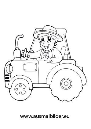 ausmalbild traktor kostenlos ausdrucken