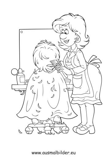 Ausmalbilder Friseur Berufe Malvorlagen
