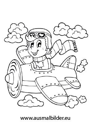 ausmalbilder pilot berufe malvorlagen