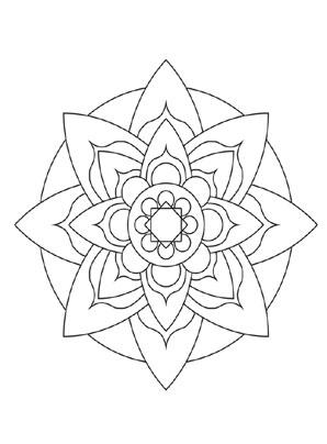 Ziemlich Blumen Mandala Malvorlagen Fortgeschrittene Ebene ...