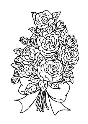 ausmalbilder blumenstrauss mit rosen 1 kostenlos ausdrucken