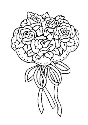 Ausmalbilder blumenstrauss mit rosen 4 - blumenstrauss Malvorlagen