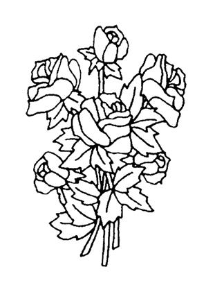 Ausmalbilder Blumenstrauss Mit Rosen 5 Blumenstrauss Malvorlagen