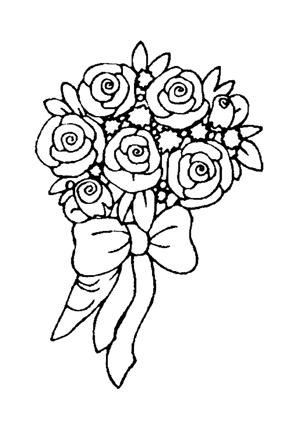 ausmalbilder blumenstrauss mit rosen 6 kostenlos ausdrucken