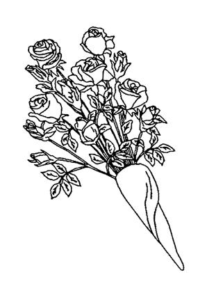 Ausmalbilder Blumenstrauss Mit Rosen 7 Blumenstrauss Malvorlagen