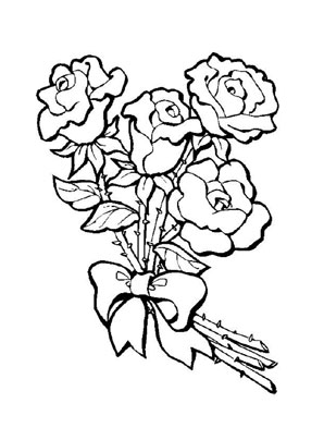 Ausmalbilder Rosen 5 Rosen Malvorlagen