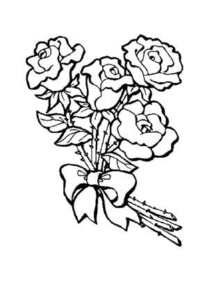 Ausmalbilder Rosenstrauss 1 Rosen Malvorlagen