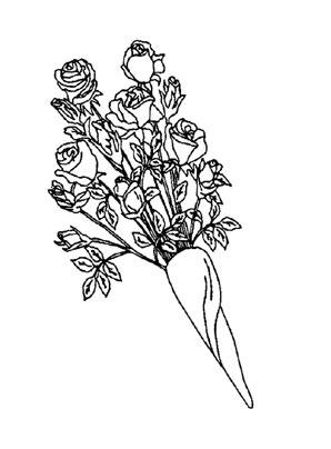 Ausmalbilder Rosenstrauss 2 Rosen Malvorlagen