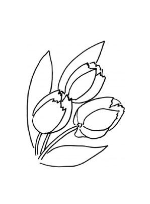 ausmalbilder tulpen 4 - tulpen malvorlagen