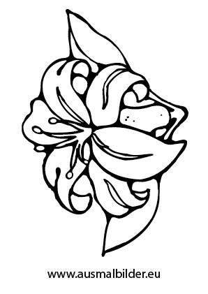 Ausmalbilder Blüte - Blumen Malvorlagen ausmalen