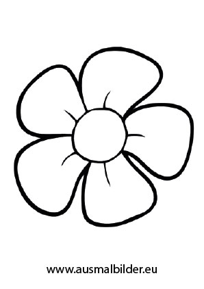 Ausmalbilder Eine Blüte Blumen Malvorlagen Ausmalen