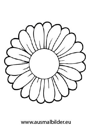 Ausmalbilder Gänseblümchen Blumen Malvorlagen Ausmalen