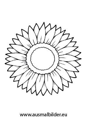 Ausmalbilder Sonnenblume   Blumen Malvorlagen ausmalen