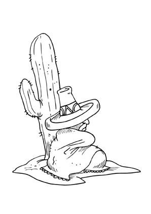 Ausgezeichnet Kaktus Malvorlagen Galerie - Framing Malvorlagen ...