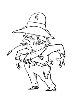 ausmalbilder sheriff - cowboys malvorlagen