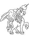 Pegasus Einhorn Ausmalbild