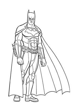 Ausmalbilder Batman 9 - Batman Malvorlagen