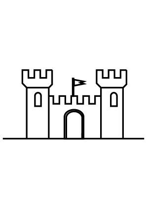 Ausmalbilder Burg - Burgen und Schlösser Malvorlagen