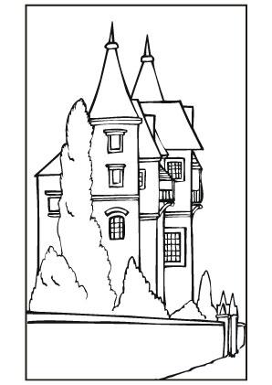 Ausmalbilder Klassisches Schloss Burgen Und Schl 246 Sser