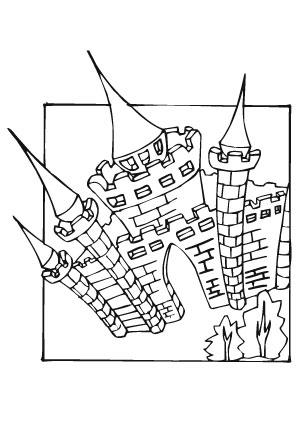 Ausmalbilder Schlosstor Burgen Und Schlösser Malvorlagen