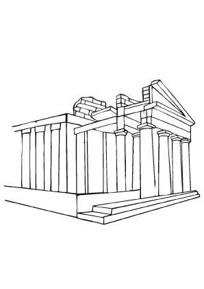 Ausmalbilder Altes Denkmal Denkmal Wahrzeichen Malvorlagen