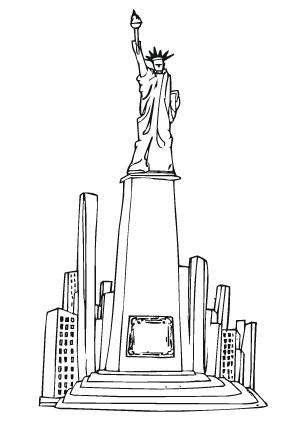 Kleurplaat New York Ausmalbilder New York Denkmal Wahrzeichen Malvorlagen