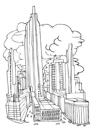 Tolle Wolkenkratzer Malvorlagen Bilder - Ideen färben - blsbooks.com