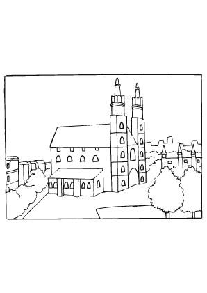 Ausmalbilder Dom - Kirchen Malvorlagen