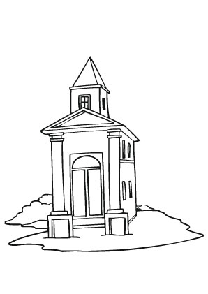 Ausmalbilder Kirche - Kirchen Malvorlagen