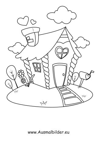 Ausmalbilder Haus Mit Garten – Gebäude Malvorlagen Ausmalen ...