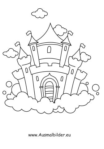 ausmalbilder ritterburg - gebäude malvorlagen ausmalen, Garten und Bauen