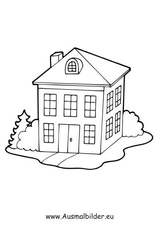 ausmalbilder schulgebäude - gebäude malvorlagen ausmalen, Garten und Bauen