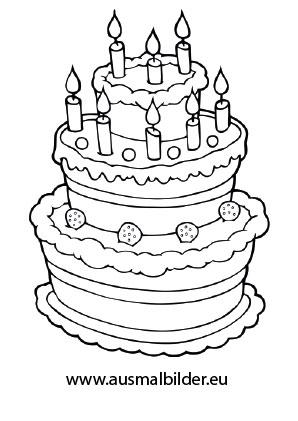 Ausmalbilder Geburtstagstorte Geburtstag Malvorlagen