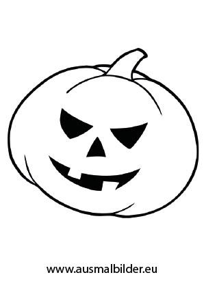 Ausmalbilder Cooler Kürbis - Halloween Malvorlagen