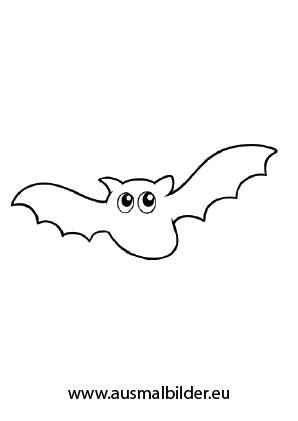 Ausmalbild Fledermaus