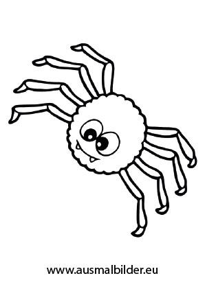 Ausmalbild Nette Spinne