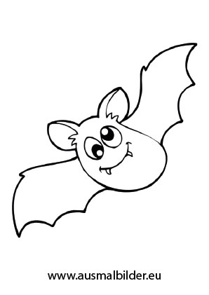 Ausmalbilder Süsse Fledermaus Halloween Malvorlagen